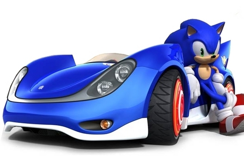 Sonic and his car ;)