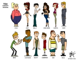 TOTAL DRAMA RELOADED CAST WITH EYES AND NAMES!!!