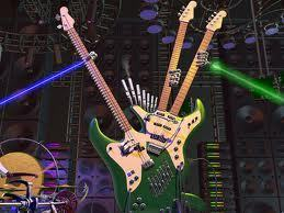 TRIPLE guitar, gitaa WITH LASERS O_O