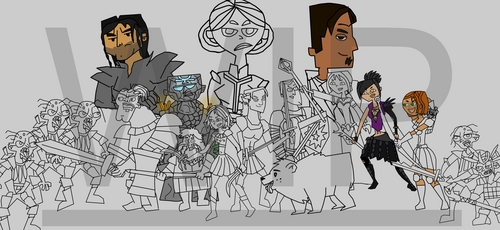 Total Drama: Origins colour-WIP