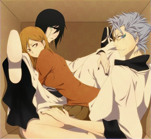 Bleach anime achtergrond containing anime called Ulquiorra, Grimmjow and Orihime