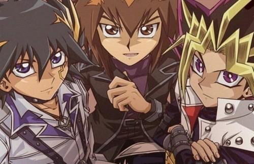 Yami Yugi, Jaden Yuki e Yusei Fudo 3