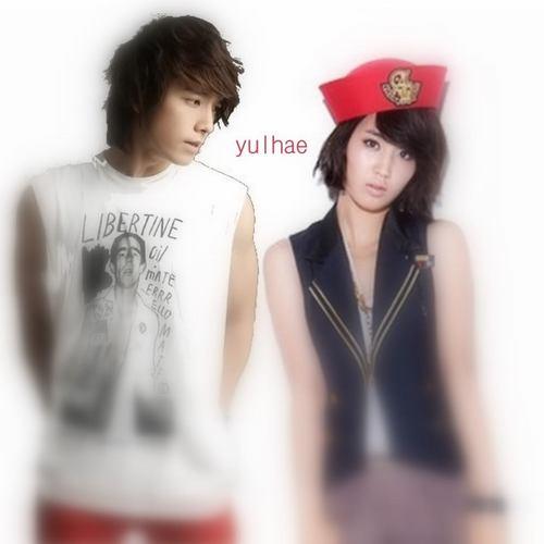 Super Generation: Super Junior & Girls' Generation kertas dinding titled YulHae (Yuri & Donghae)