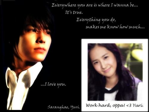 Super Generation: Super Junior & Girls' Generation wallpaper with a portrait called YulHae (Yuri & Donghae)