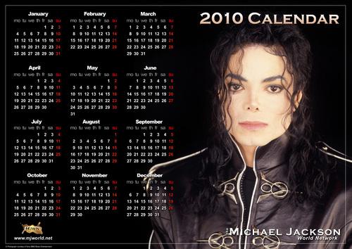 a 2010 Michael Jackson Calendar