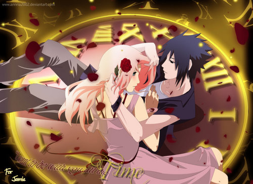 SasuSaku वॉलपेपर probably with a roulette wheel called by_annria2002-d330ab3