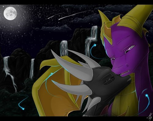 Spyro The Dragon پیپر وال entitled cynder LOVE spyro