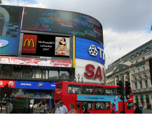 blagues marrantes fond d'écran called funny mcdonalds on piccadilly circus