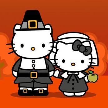 hello kitty on thanksgiving