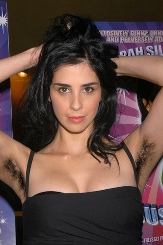 Sarah Silverman wallpaper probably containing attractiveness and a portrait called sarah silverman with hairy armpits