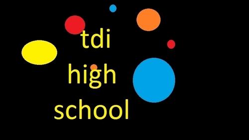tdi high school sign