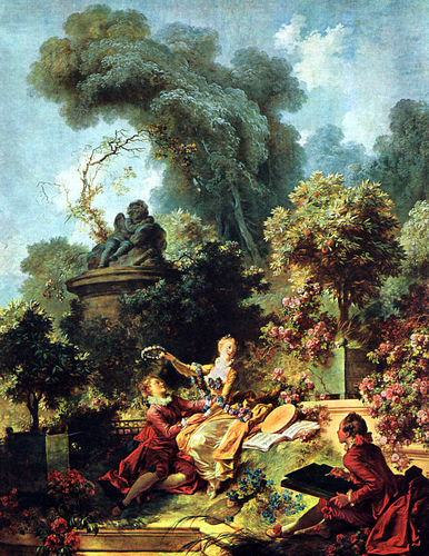 """Lover Crowned"" (by Jean Honore Fragonard)"