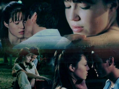 A Walk To Remember wallpaper probably containing a sign and a portrait called A Walk to Rememeber ~ Landon and Jamie