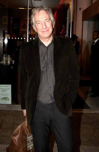 Alan Rickman wolpeyper with a business suit, a suit, and a well dressed person entitled Alan :*