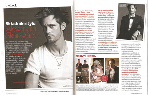 Alexander Skarsgard in Polish InStyle