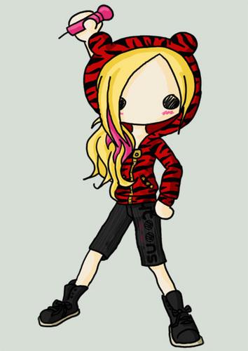 Avril Lavigne Cute Drawings :D