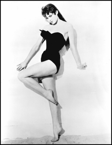 Brigitte Bardot karatasi la kupamba ukuta containing a leotard and a maillot titled BB - very young