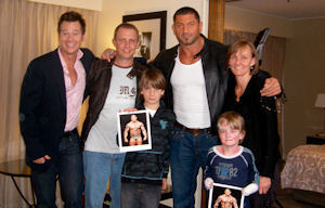 Batista with fans