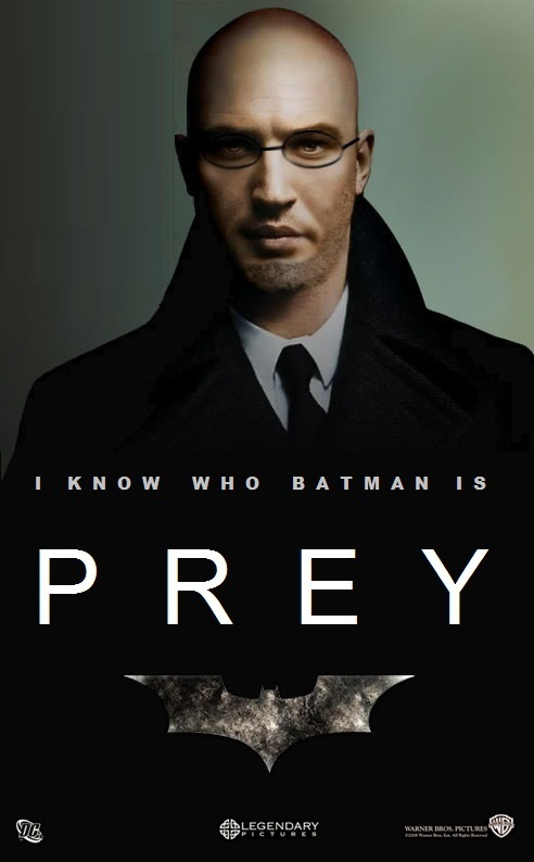 Tom Hardy Batman PREY Poster Tom Hardy as Hugo Strange