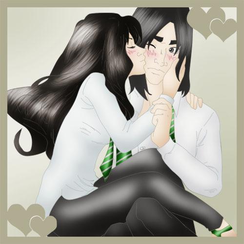 Bellatrix and her boyfriend Severus