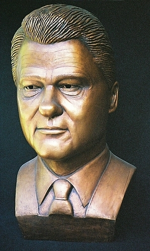 Bill Clinton wolpeyper entitled Bill Clinton bust sculpture
