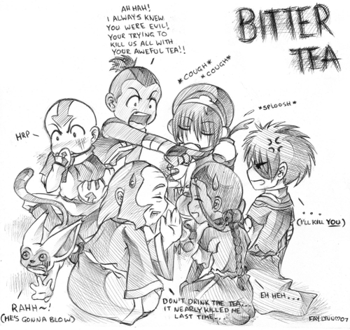 Avatar The Last Airbender kertas dinding with Anime called pahit teh