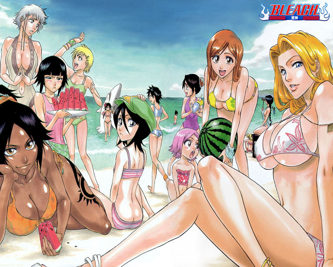 Bleach Girls at the de praia, praia