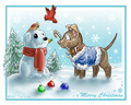 Christmas Dogs - teddybear64 fan art