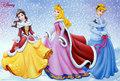 Cinderella,Aurora,Belle