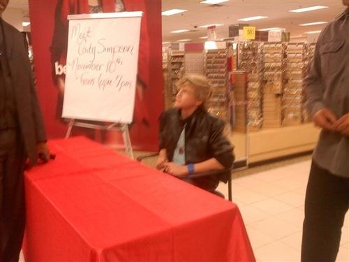 Cody at signings