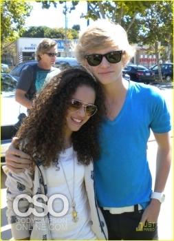 Cody walking with Zach Bonner
