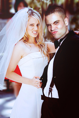 glee wallpaper probably with a business suit and a bridesmaid titled Dianna & Mark Wedding Manip