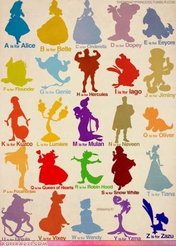 Disney Characters outlines