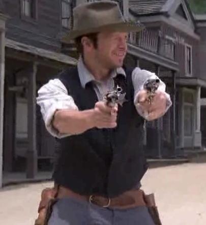 Donnie Wahlberg Hintergrund containing a boater and a fedora titled Donnie as Billy the Kid (Purgatory)