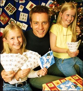 Ewan McGregor with kids