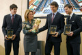 Fernando Llorente, Javi Martinez & Xabi Alonso - honored por the Basque government (1.12.2010)