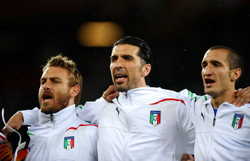 G. Buffon playing for Italy