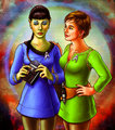 Genderbend Spirk: Jamie Kirk and T'Pock - spirk fan art