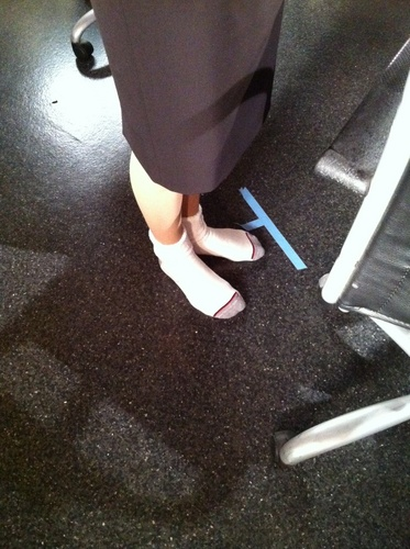 Paget Brewster wolpeyper entitled Gibson's Tweet the Feet Tuesday!