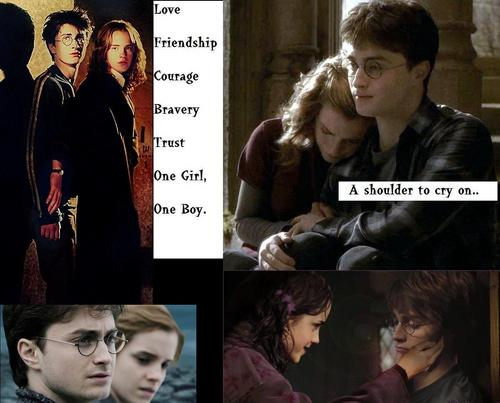 HARRY AND HERMIONE - A SHOULDER TO CRY ON