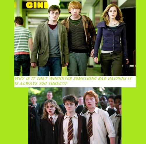 HARRY, RON AND HERMIONE - ALWAYS UP TO TROUBLE