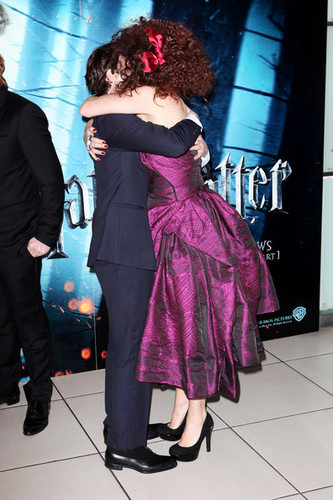 Helena Bonham Carter hugs Dan