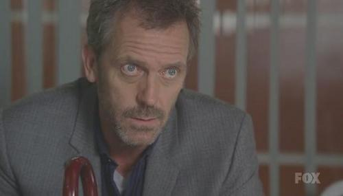 Dr. Gregory House karatasi la kupamba ukuta possibly containing a business suit and a holding cell called House