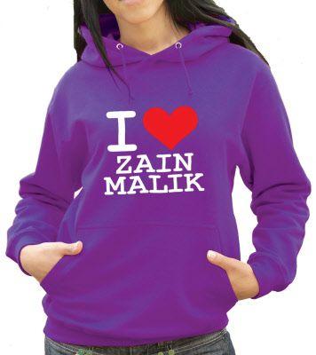 I Love Zain/Zayn Malik Hoodie (He Owns My دل & Always Will) :) x