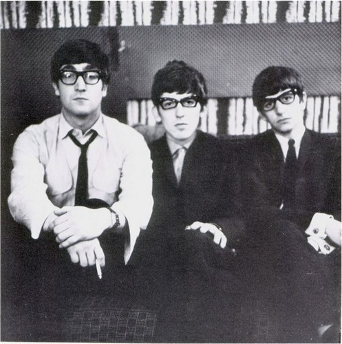 The Beatles wallpaper containing a business suit, a suit, and a three piece suit called John, George and Ringo
