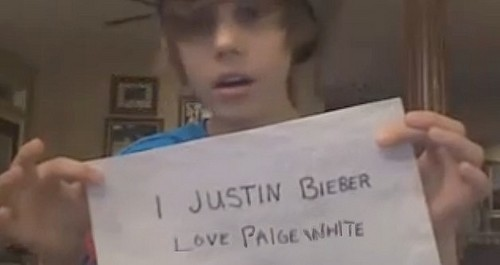 Justin bieber loves Paige White