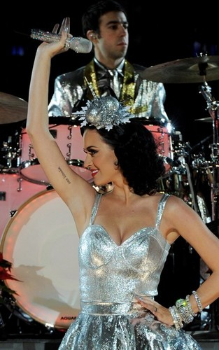 Katy Perry's Grammy Nominations konzert Rehearsal