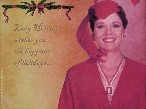 Lady Holiday wishes - diana-rigg Wallpaper