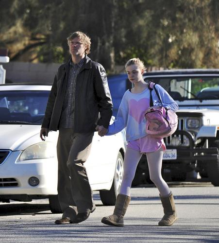 Leaving her ballet class (November 29,2010)