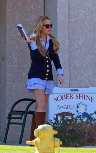 Lindsay Lohan: Sober House Schoolgirl